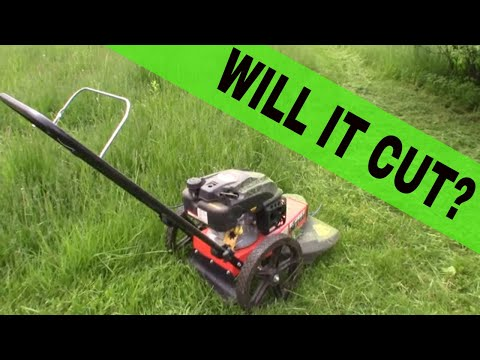 Mowing Tall Grass With DR Trimmer'