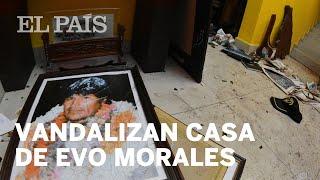 Vandalizan casa de Evo Morales