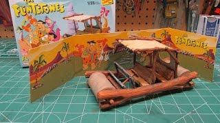 Lindberg Flintstones Flintmobile Model Kit Review Build A great kit...