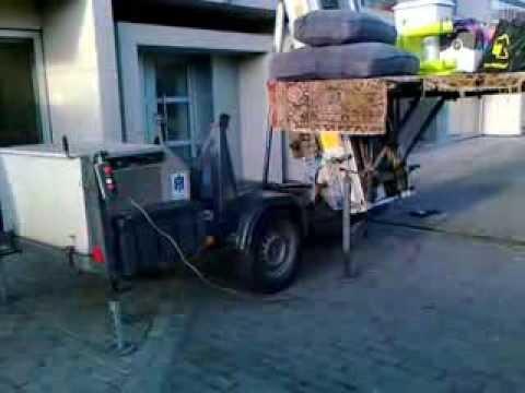 Winda do transportu mebli - Belgia  Elevator to transport furniture - Belgium