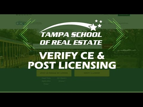 How To Verify Florida Post Licensing And Continuing Education