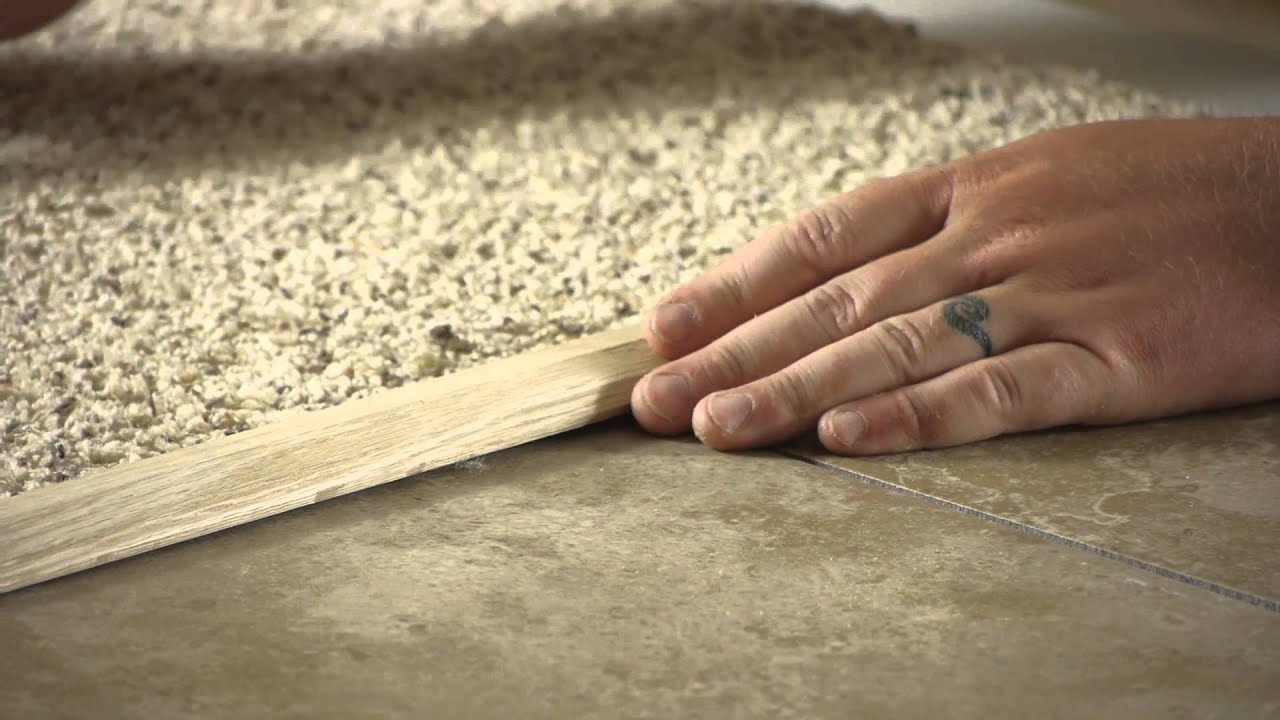 How to go from carpet to tile carpet installation repairs how to go from carpet to tile carpet installation repairs youtube baanklon Choice Image