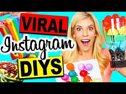 TESTING VIRAL INSTAGRAM SUMMER DIYS!! (Rainbow Edible Slime NO BORAX, Rainbow Smoothie, & more!)