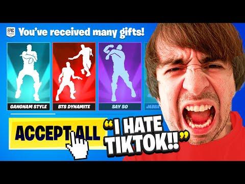 Gifting Him EVERY TikTok Emote.. (RAGE)