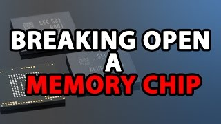 Ever wondered what is inside a memory chip? We break one open to find out!