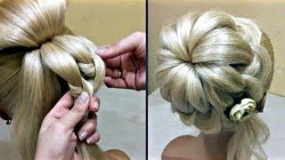 Простой Пучок своими руками БЫСТРЫЕ ПРИЧЕСКИ Do it yourself Simple Hairstyle FAST HAIRSTYLES