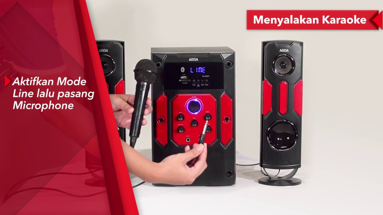 ARISA Tutorial - Speaker Karaoke ARISA SA-6062 - YouTube on samsung speaker, x-mini speaker, altec lansing speaker, antec speaker, hewlett-packard speaker, grace digital speaker, motorola speaker, huawei speaker,