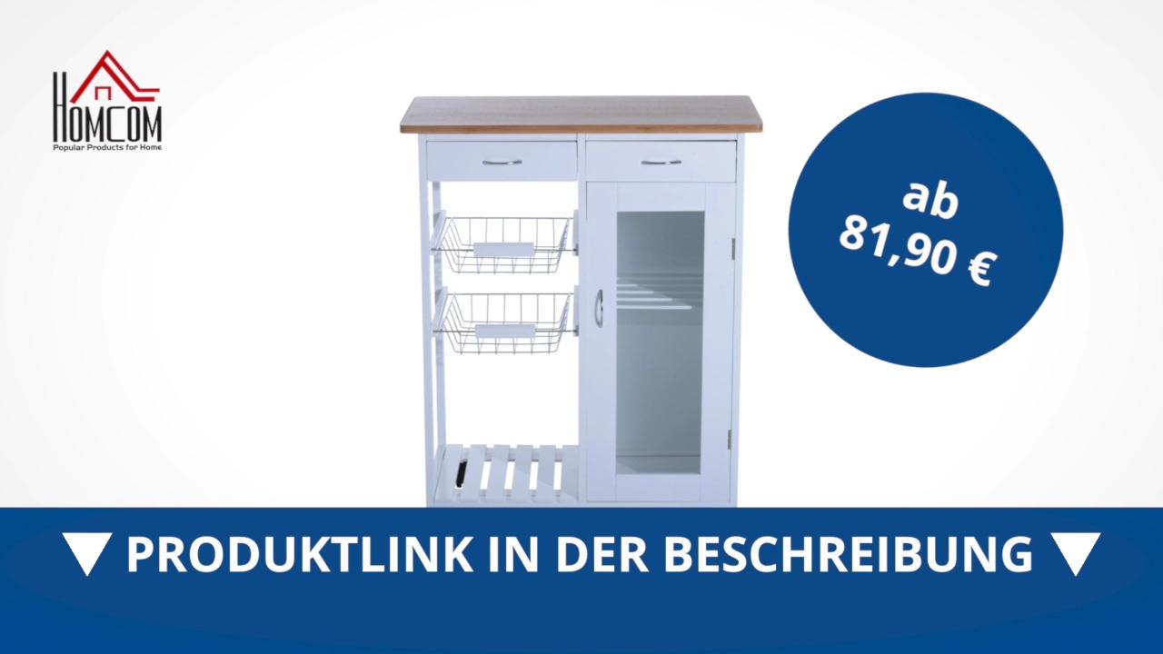 Homcom Kuchenwagen Servierwagen Kuchenregal Holz Direkt Kaufen