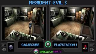 Resident Evil 3 Graphics Comparison Nintendo Gamecube (GCN) VS Playstation1 (PS1)