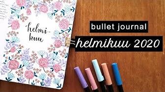Helmikuu 2020 plan with me 🌸 bullet journal Suomi 🇫🇮
