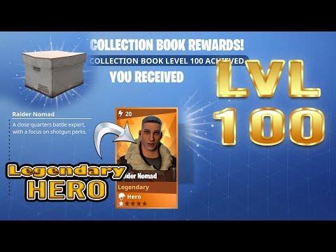 Fortnite | Lvl 100 Collection Book Legendary Hero | Raider Nomad