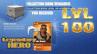 Fortnite | Lvl 100 Collection Book Legendary Hero | Raider Nomad
