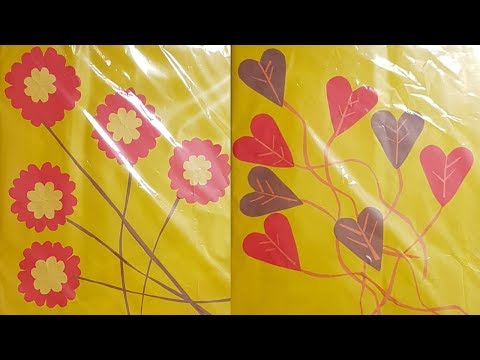 Student decoration idea Book cover decorate by colour paper at home part3