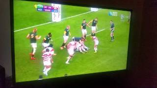japan beating south africa in the rugby