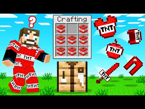 CRAFTING *ANY BLOCK* Into ARMOR (Minecraft UHC)