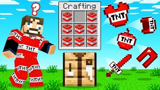 CRAFTING *ANY BLOCK* into ARMOR (Minecraft UHC)