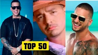 Reggaeton 2016 Top 50 Lo mas escuchado del 2016 | Maluma, Daddy Yankee, J Balvin, Nicky Jam, Farruko