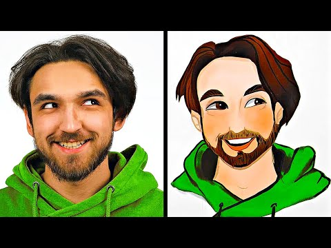 CARTOON PORTRAIT CHALLENGE || How To Draw Emotion