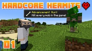 KILL ALL THE MOBS! 😱 | Hardcore Hermits | 01 | Minecraft Mob Hunt Challenge