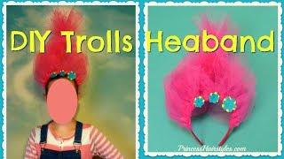 Trolls Headband Tutorial, Easy DIY Halloween Costume