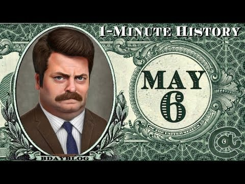 ★1-Minute History | MAY 6 | Ron Swanson, Hindenburg, Clooney, Blair★