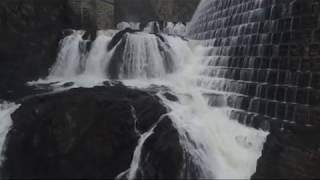 Beautiful & AMAZING Drone Flying towards water then up and out to hover