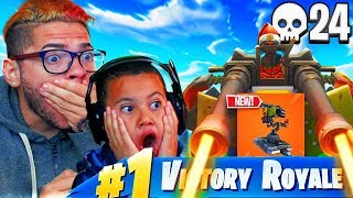 *NEW* MOUNTED TURRET IS WAY TOO OVERPOWERED!! *THIS MIGHT GET MY LITTLE BROTHER BANNED* FORTNITE BR!