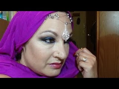 ARABIAN CLASSY SEX SYMBOL MAKEUP (SMOKY SKY BLUE PINK UNDERTONES)