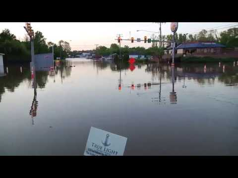 Dan River - Major Flooding at Riverdale & South Boston, VA. 4-26-2017