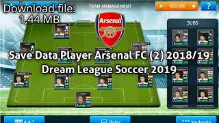 Arsenal save data dream league soccer 2019 mod