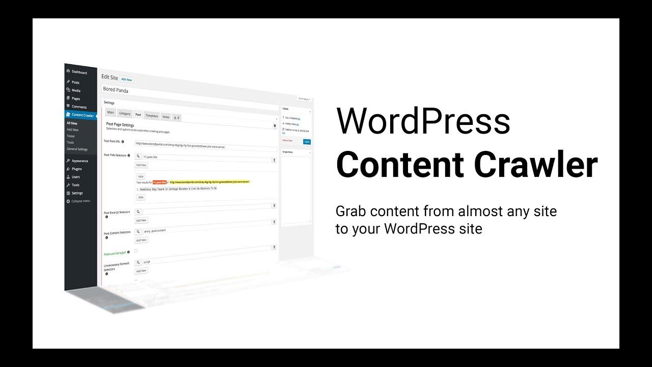 WP Content Crawler - Introduction