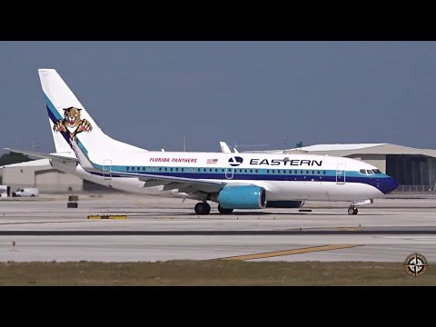 Eastern Air Lines Boeing 737-7L9 Taking Off @ FLL