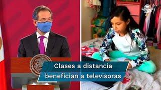 El acuerdo consiste en contar con un canal de televisión abierta que brinde los contenidos para estudiantes de educación básica a partir del 24 de agosto