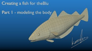 Creating a fish for theBlu using Blender - part 1: modeling the body