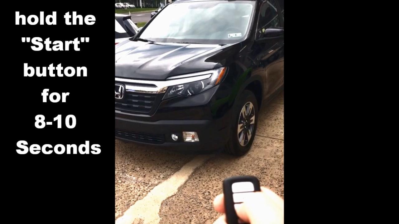 How To Use Remote Start 2017 Honda Ridgeline