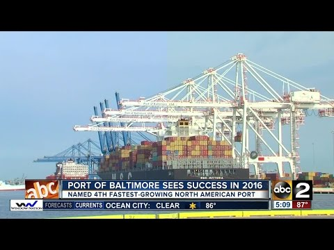 Port of Baltimore grows in 2016