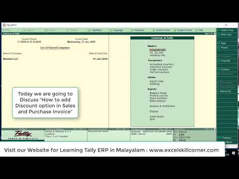 How to make Sales and Purchase invoice in Tally with Discount