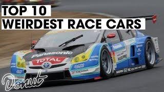Top 10 Weirdest Race Cars Ever| Donut Media