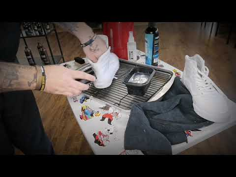 Sneaker Cleaning: All White Vans High Tops