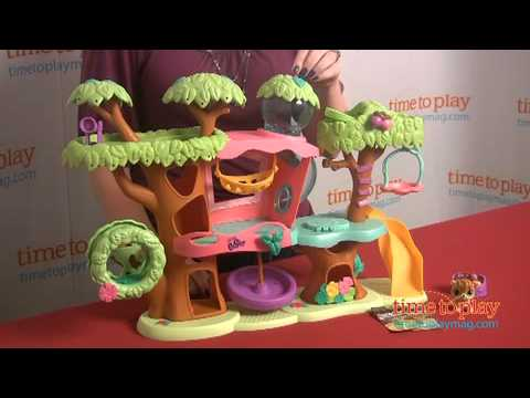 Littlest Pet Shop Walkables Magic Motion Tree House Playset From Hasbro