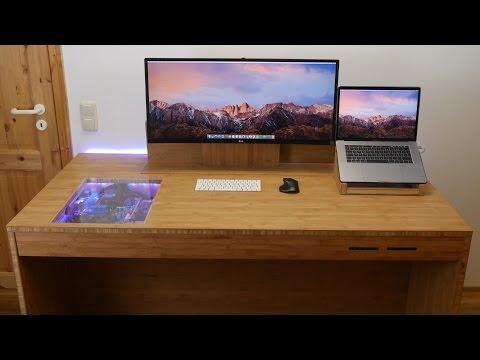 Selbstgebauter Schreibtisch-Ruben Orfeo 4K