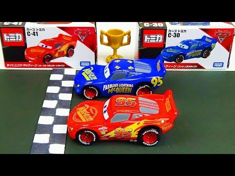 Disney Cars Lightning McQueen VS Lightning McQueen Race! Stop Motion  Tomica Special Race vol.4