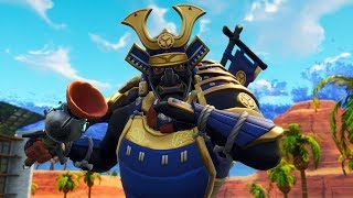 "PLAYING WITH THE SKINS OF THE SAMURAI ""HIME"" AND ""MUSHA"" AND SOLID GOLD DUO! (Fortnite Battle Royale)"