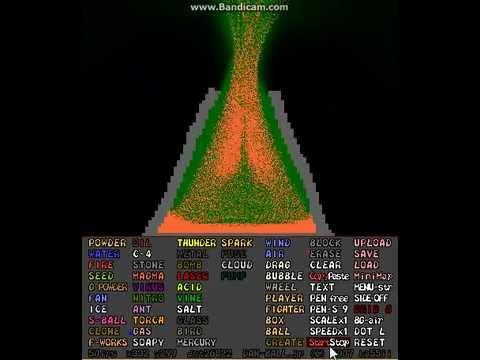 Powder Game: Volcano - YouTube