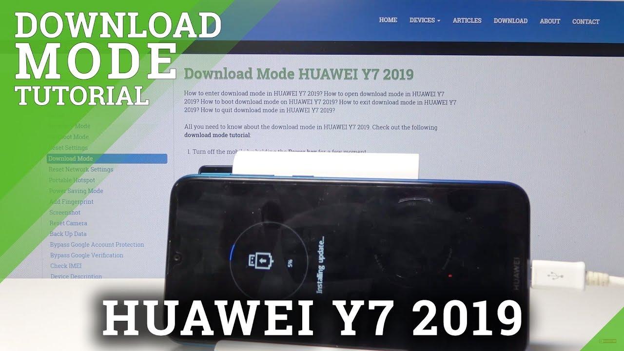 Download Mode HUAWEI Y9 (2019) - HardReset info