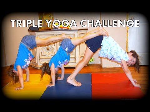 3 person yoga challenge  youtube
