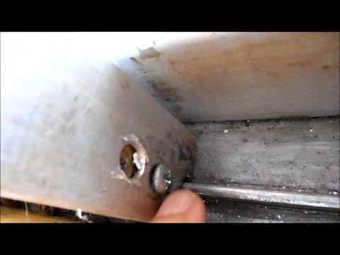 Sliding glass door gets stuck - the fix