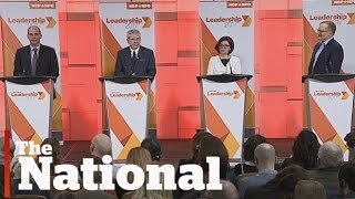 NDP candidates debate for leadership