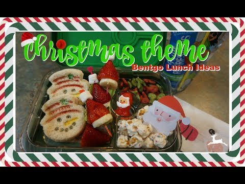 CHRISTMAS THEME LUNCH IDEAS | BENTGO BOX LUNCHES | VLOGMAS #23