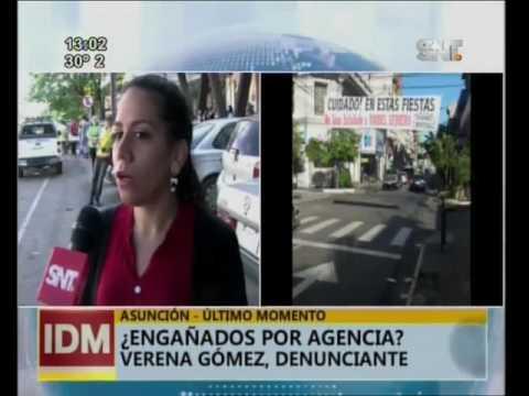 En Asunción denuncian engaño de agencia